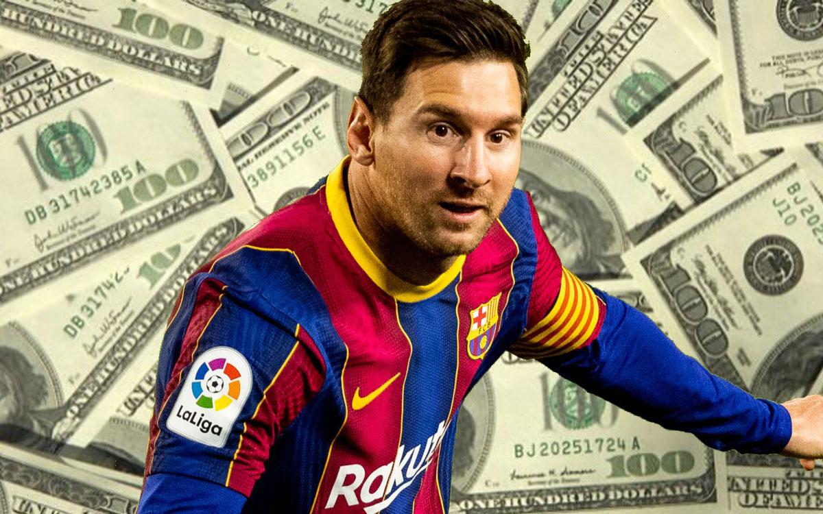How much money did Messi stop making a day after