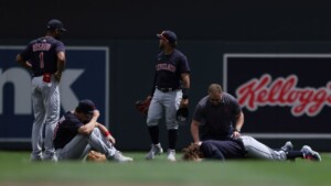 Josh Naylor, operated after collision with partner