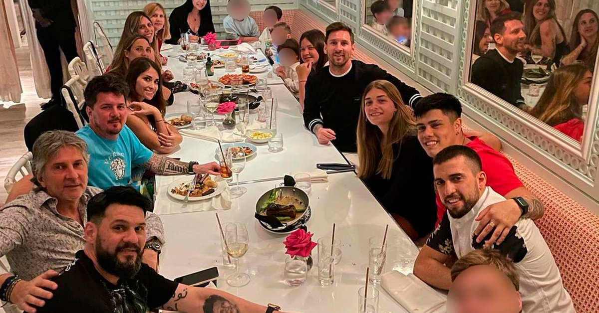 Lionel Messi shared a photo of the family dinner he had in the middle of his vacation in Miami