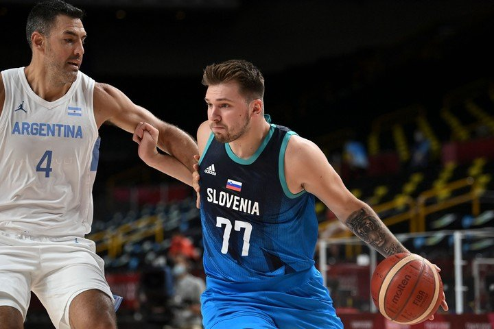 Luifa and the national team could not stop Doncic (AFP).