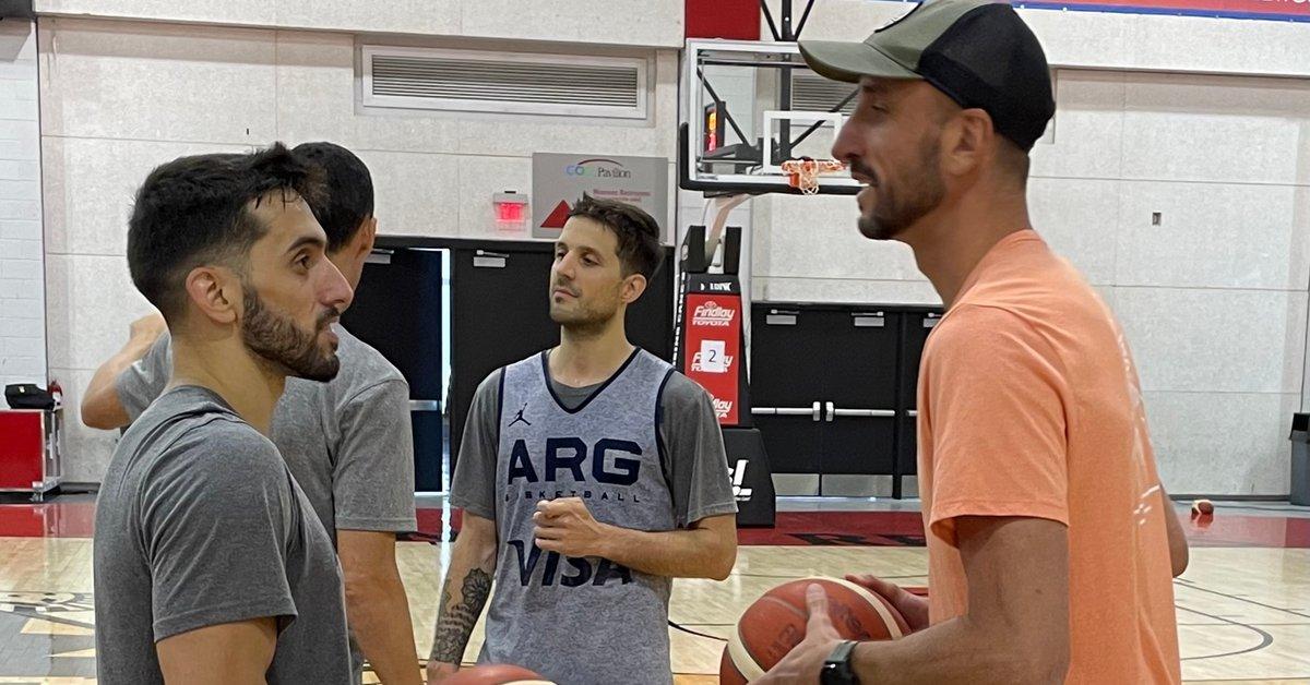 Manu Ginobili surprised the Argentine basketball team in Las Vegas