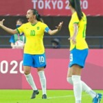 Marta, first footballer to score in five consecutive Olympics