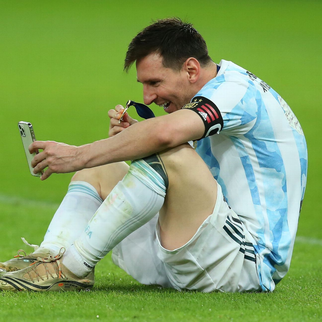 Messi Champion of flesh and blood