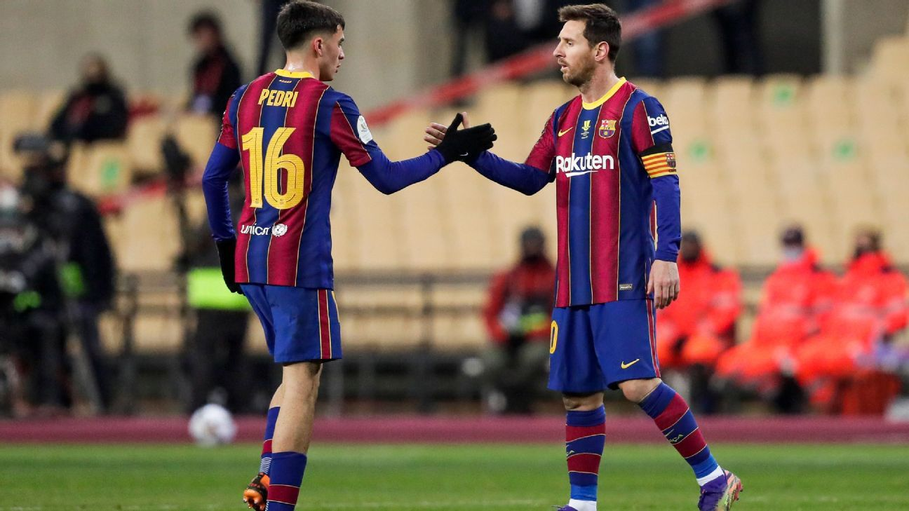 Messi Pedri and who else will pull the car at