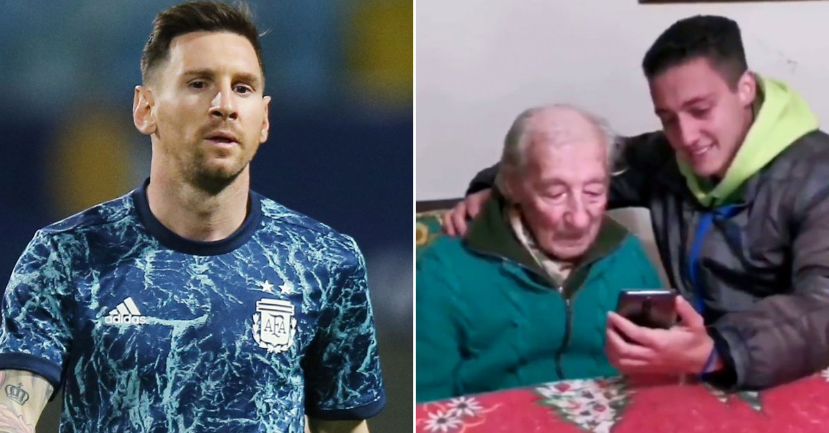 Messi surprised the 100-year-old fan who writes down all his goals in a notebook: the reaction that went viral