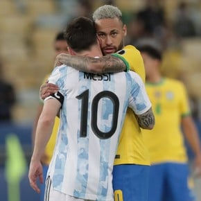 """Neymar's emotional message to Messi: """"Congratulations brother hdp"""""""