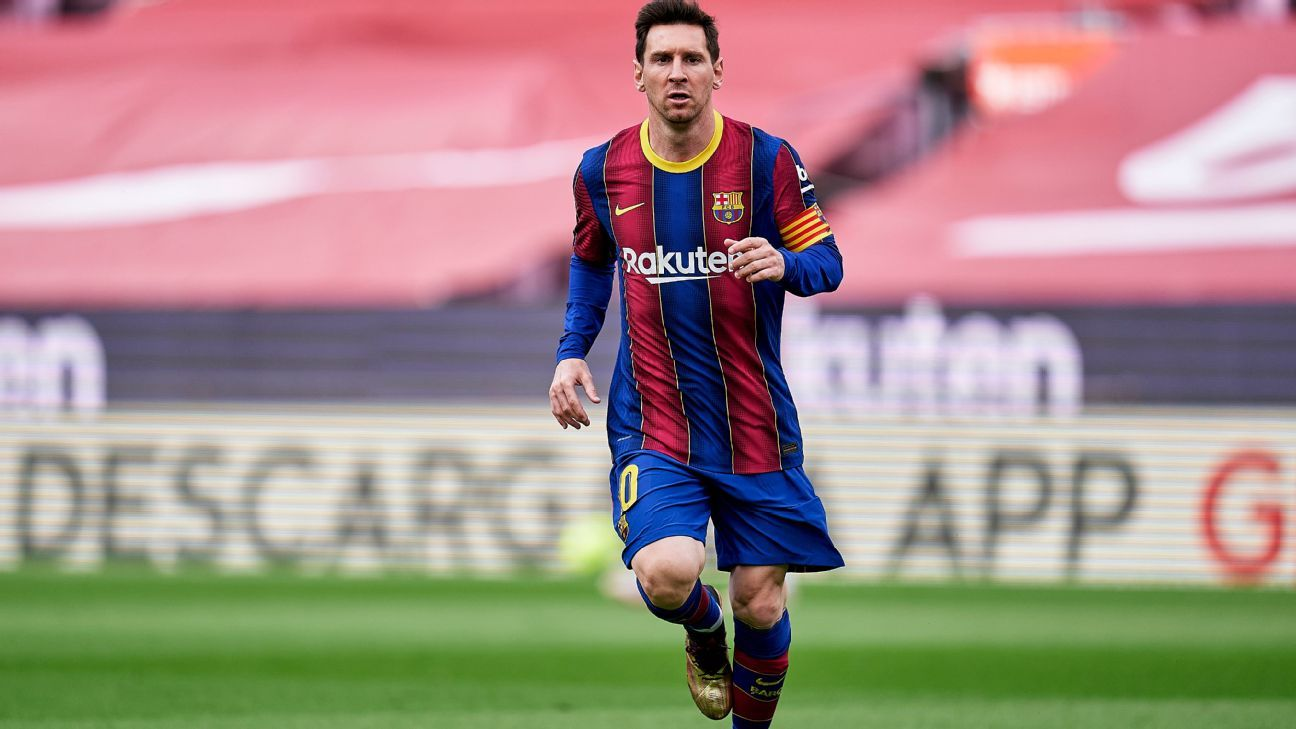 Messis contract with Barcelona expired and he has already received