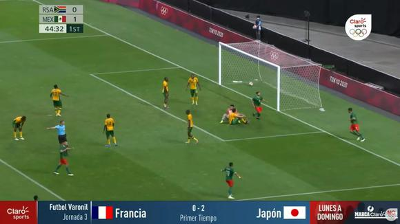 Luis Romo's goal against South Africa in Tokyo 2020