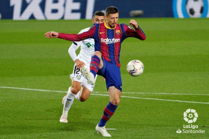 Lenglet, during a Barcelona match against Getafe (Photo: LaLiga).
