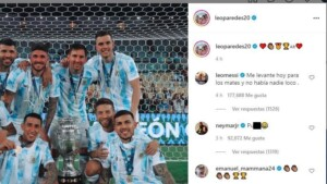 Neymar responds with the word pu ... to the celebration of Argentine players in social networks
