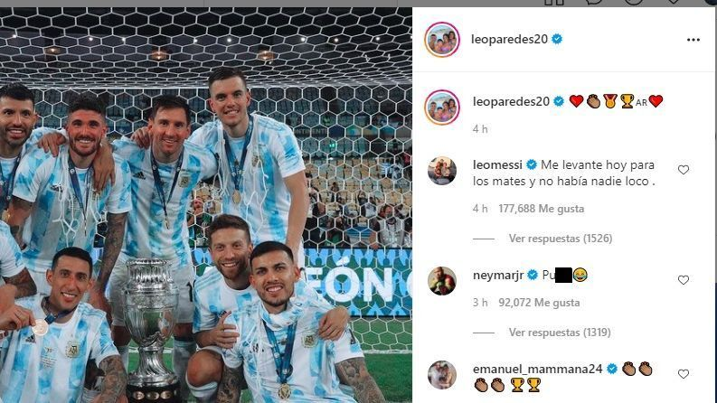 Neymar responds with the word pu to the celebration of
