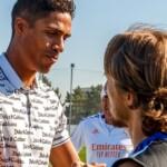 Raphael Varane says goodbye to his Real Madrid teammates