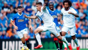 Real Madrid lost in their visit to Rangers