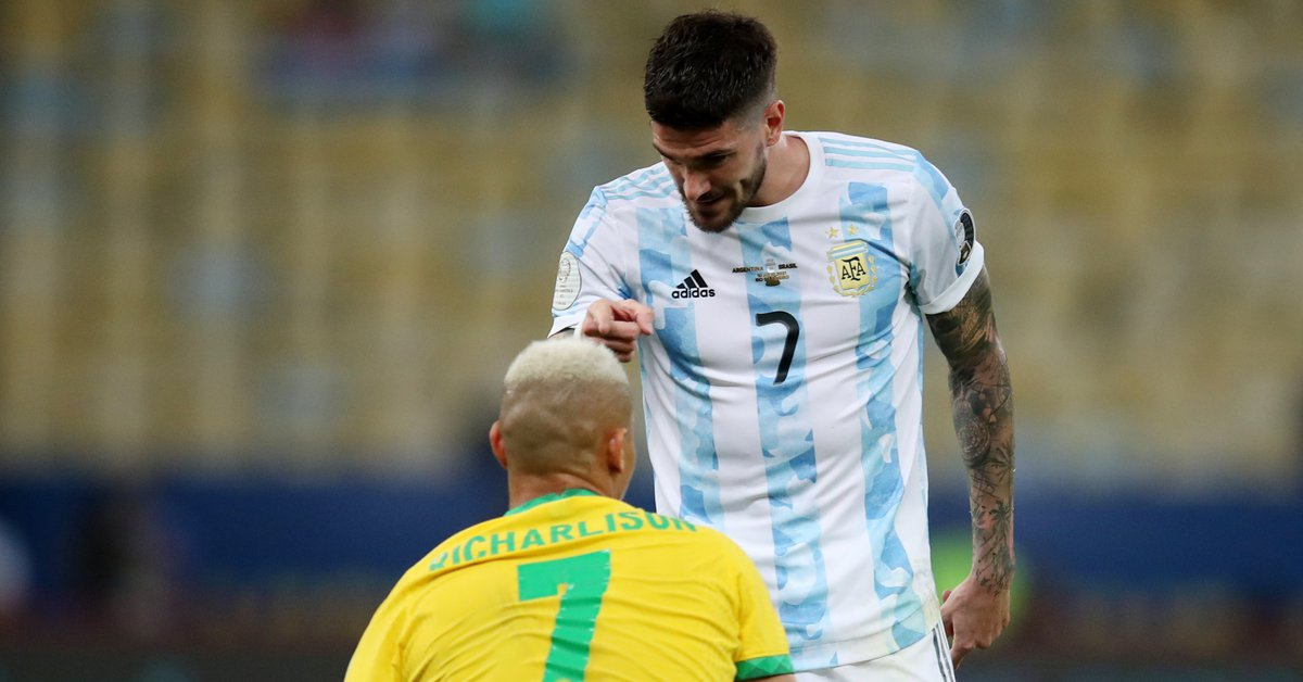 Rodrigo de Paul's provocative post in response to Richarlison's mockery against the Argentine team