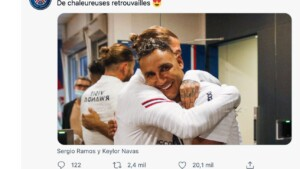 Sergio Ramos and Keylor Navas star in the third public 'affection' in PSG networks