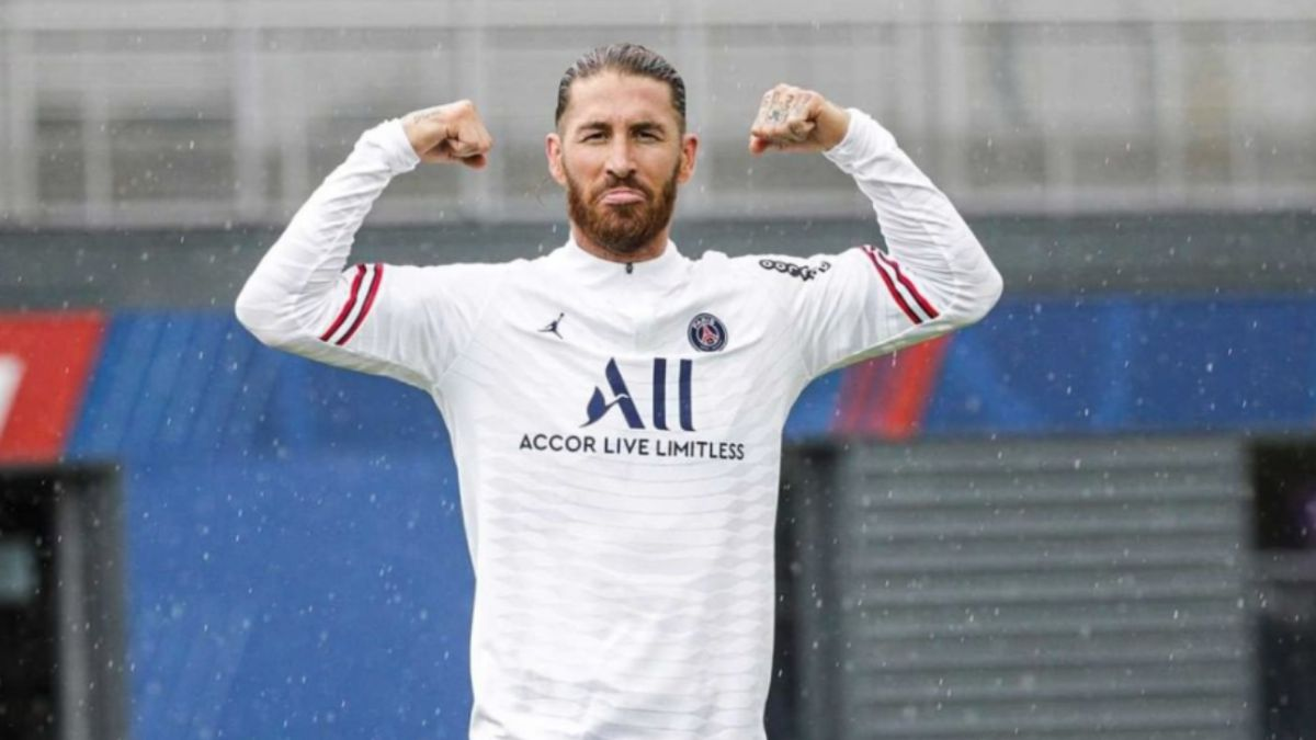 Sergio Ramos indulges himself after signing for PSG with a