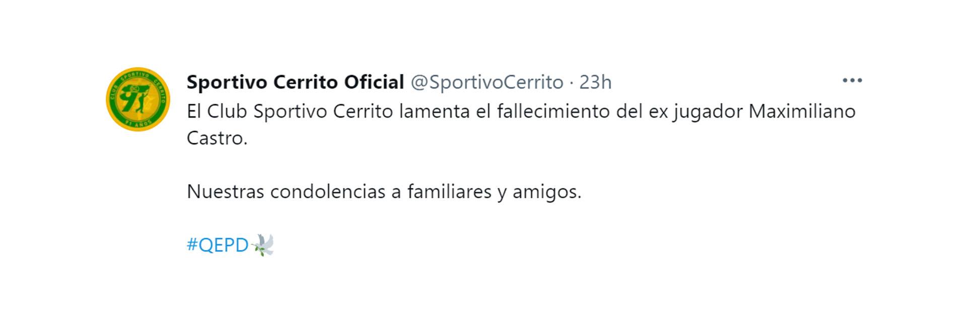 Shock in Uruguay former soccer player Maximiliano Castro was found