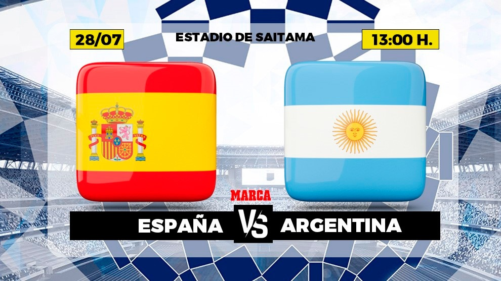Spain Argentina live Football Olympic Games