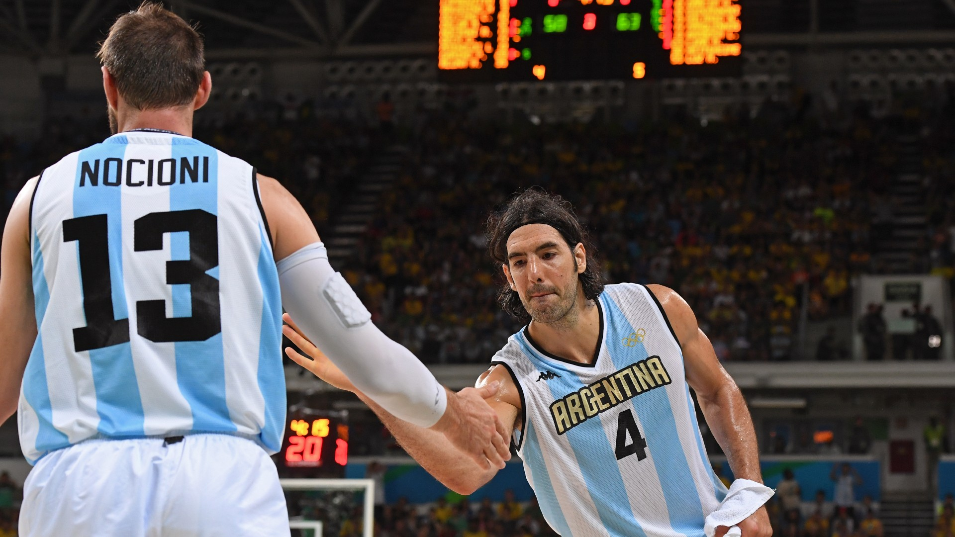 The Argentine basketball team at the Olympic Games records statistics