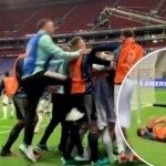 The Argentine national team player who suffered a blow in the middle of the celebration and missed the celebration