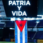 The Miami Marlins join the #SOSCuba with a Cuban flag in their stadium