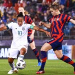 The United States thrashes the women's Tri in the first friendly they will face