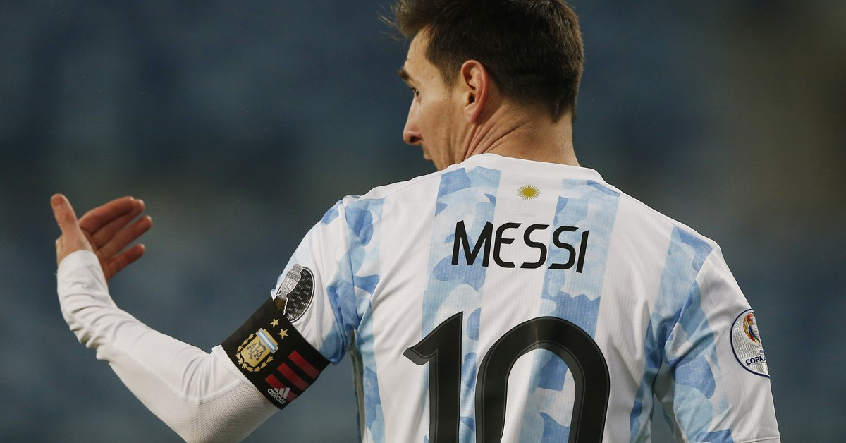 The change of look of Lionel Messi before the match of the National Team against Ecuador