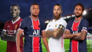 The eleven of galacticos of PSG with the arrival of Sergio Ramos