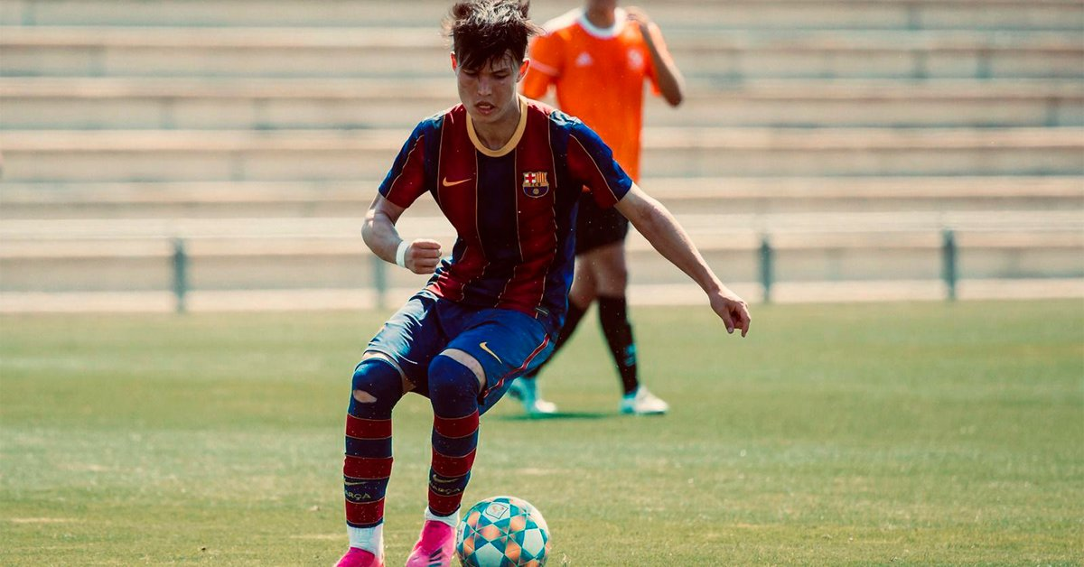 The story of Niko Takahashi, the promise of Barcelona who is in the U-16 in Spain, but has proposals to play in Argentina and Japan