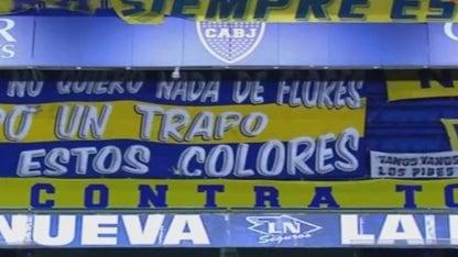 "Flag: ""Boca against everyone, everyone against Boca"""