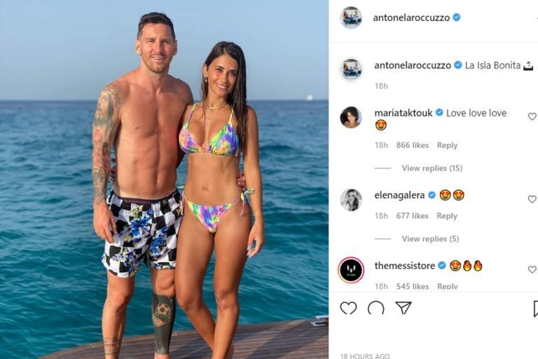Antonela Roccuzzo shared & # xf3; a postcard with Lionel Messi on a yacht in Ibiza
