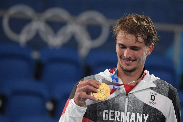 Alexander Zverev champion in Tokyo 2020.