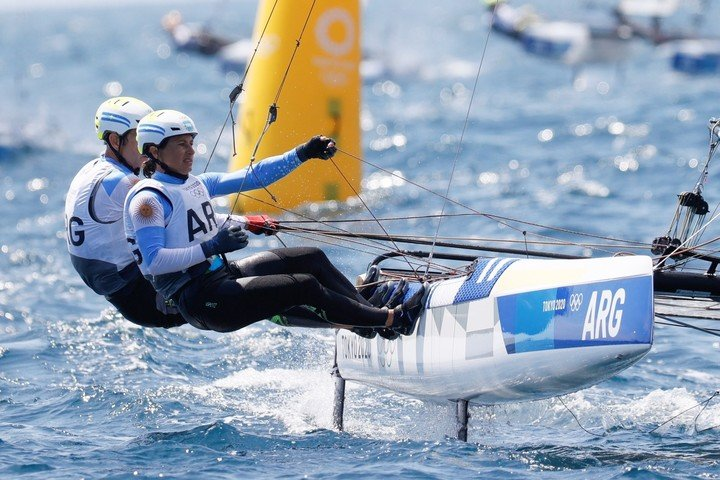 Cecilia Carranza and Santiago Lange qualified for the Medal Race, but they will not be able to aspire to a medal.
