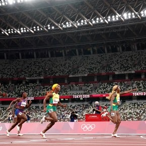 Tremendous 100m final: Jamaica took the podium with a record and Bolt congratulated them