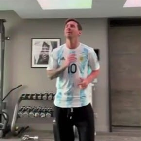 Messi joined in dancing with the Argentine Olympians!