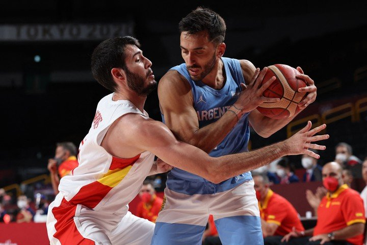 Facundo Campazzo will seek revenge after the bad night against Spain. Photo: AFP