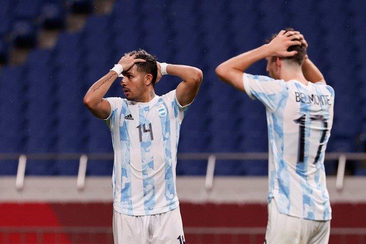 The Argentina Sub 23 team, eliminated from the Olympics. EFE / José Méndez
