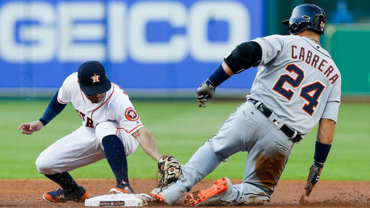 Miguel Cabrera has 9 hits from two bases this season