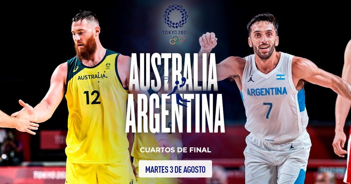 1628075385 Argentina Australia in basketball quarters time and live TV