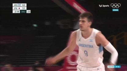 Argentina vs. Japan in basketball: Brussino's 3-point burst