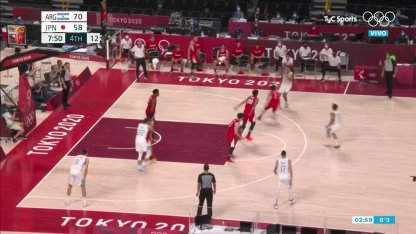 Argentina vs. Japan in basketball: Campazzo and Scola play
