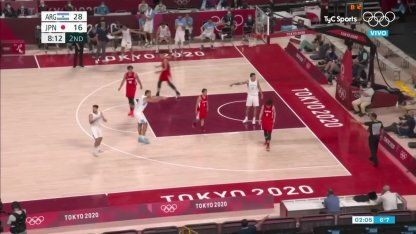 Argentina vs. Japan in basketball: Deck plug