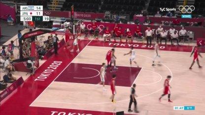 Argentina vs. Japan in basketball: Campazzo assist Delia