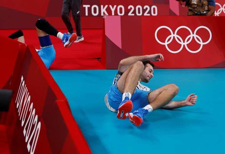 This is how De Cecco fought for the medal.