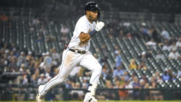 Victor Reyes showed his speed against the Boston Red Sox