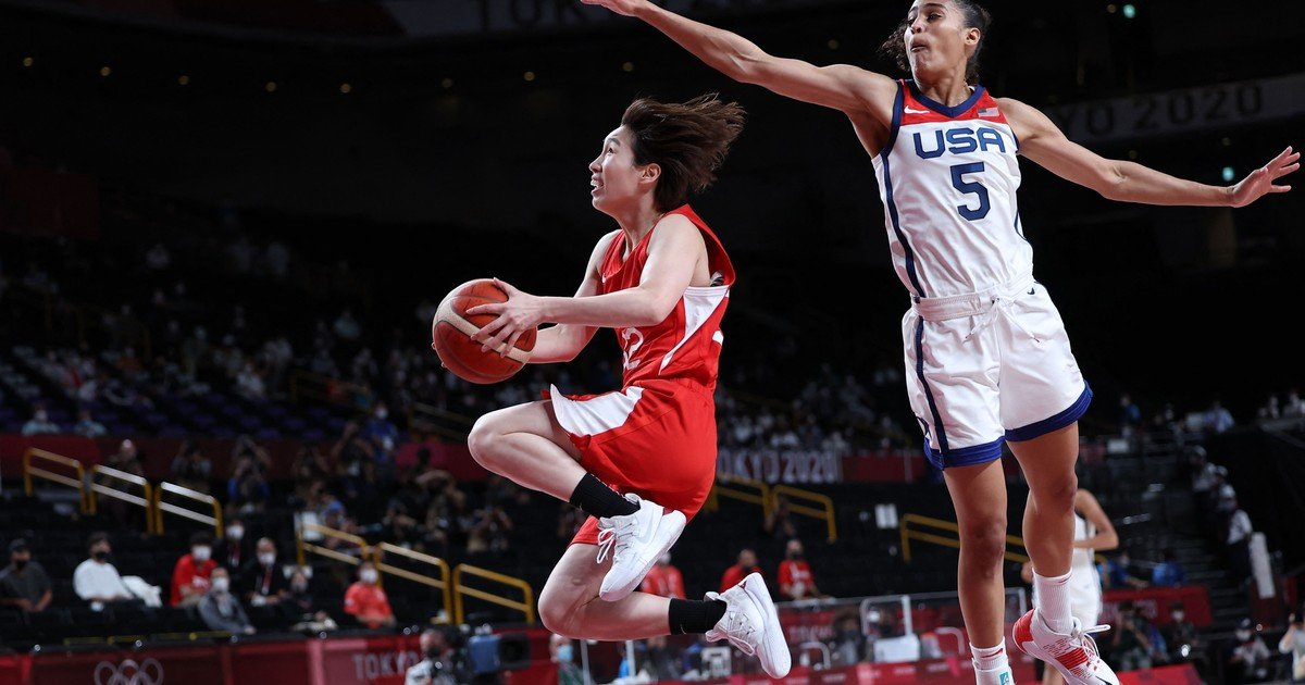 1628420206 The United States defeated Japan in womens basketball and claimed
