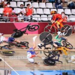 Shocking: disastrous multiple crash in Tokyo 2020 women's track cycling events