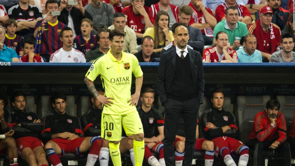 Guardiola and Pochettino talk about Messi's future