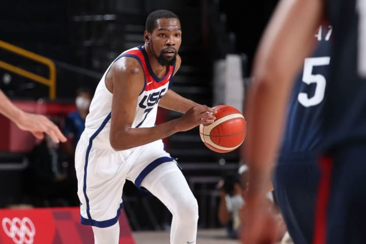 Durant was the top figure of his team and of the Tokyo 2020 Olympic Games, thanks to his production on the court