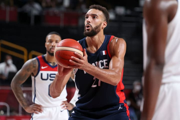 Gobert proved to be a star of the boards during his participation in the Olympic Games Tokyo 2020 with France